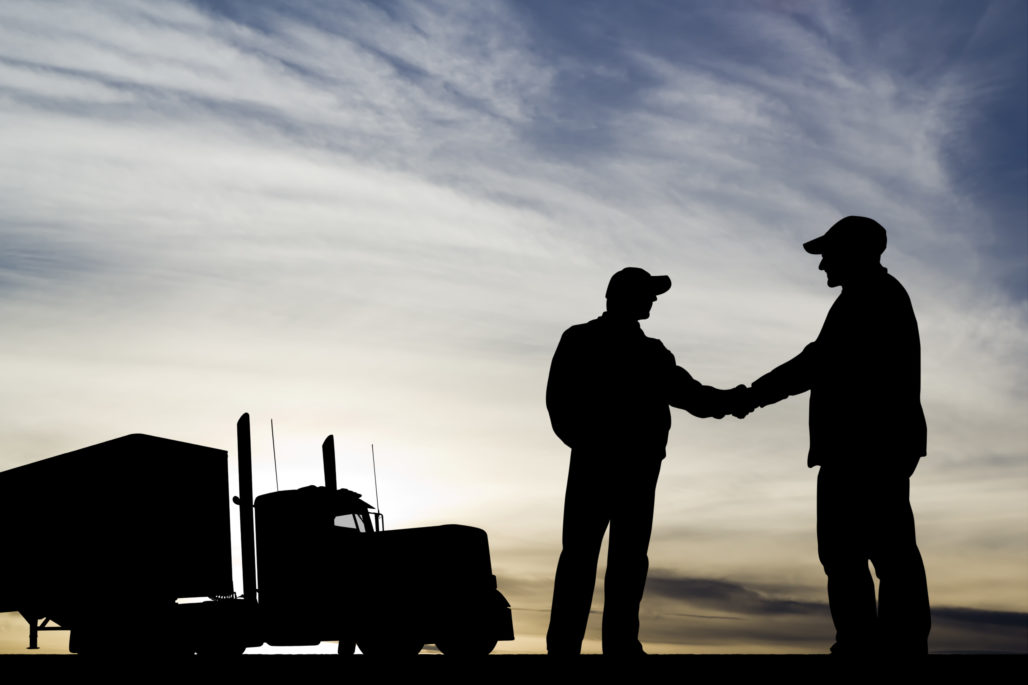 Trucking Success handshake